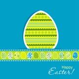 Tarjeta de felicitación de Pascua de la plantilla,  Fotos de archivo libres de regalías
