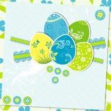 Tarjeta de felicitación de Pascua de la plantilla,  Imagenes de archivo
