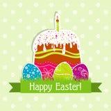 Tarjeta de felicitación de Pascua de la plantilla,  Foto de archivo
