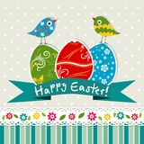 Tarjeta de felicitación de Pascua de la plantilla,  Imagen de archivo