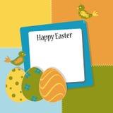 Tarjeta de felicitación de Pascua de la plantilla Imagen de archivo libre de regalías