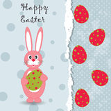 Tarjeta de felicitación de Pascua de la plantilla Fotos de archivo libres de regalías