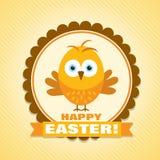Tarjeta de felicitación de Pascua de la plantilla, polluelo, vector