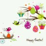 Tarjeta de felicitación de Pascua de la plantilla, vector stock de ilustración