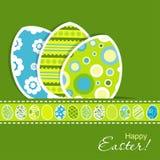 Tarjeta de felicitación de Pascua de la plantilla, vector Fotos de archivo libres de regalías
