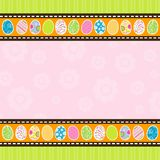 Tarjeta de felicitación de Pascua de la plantilla, vector Foto de archivo