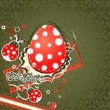 Tarjeta de felicitación de Pascua de la plantilla, vector Imágenes de archivo libres de regalías