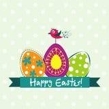 Tarjeta de felicitación de Pascua de la plantilla, vector Imagen de archivo