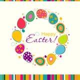 Tarjeta de felicitación de Pascua de la plantilla, vector Fotografía de archivo libre de regalías