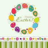 Tarjeta de felicitación de Pascua de la plantilla, vector Fotos de archivo