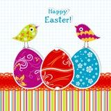 Tarjeta de felicitación de Pascua de la plantilla, vector Imagenes de archivo