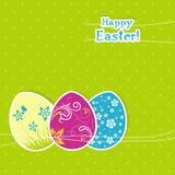 Tarjeta de felicitación de Pascua de la plantilla, vector Imagen de archivo libre de regalías