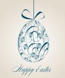 Tarjeta de felicitación de Pascua de la vendimia Fotografía de archivo