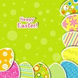 Tarjeta de felicitación de Pascua del modelo Fotografía de archivo