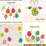 Tarjeta de felicitación de Pascua del modelo, vector Fotos de archivo libres de regalías