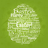Tarjeta de felicitación de Pascua del modelo, vector Foto de archivo libre de regalías