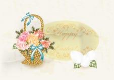Tarjeta de felicitación de Pascua en estilo de la vendimia libre illustration