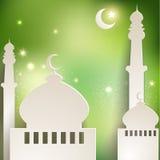 Tarjeta de felicitación de Ramadan ilustración del vector