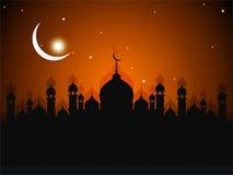 Tarjeta de felicitación de Ramadhan stock de ilustración