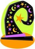Tarjeta de felicitación de Víspera de Todos los Santos del sombrero de la bruja Fotografía de archivo