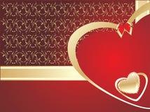 Tarjeta de felicitación decorativa. Día de tarjetas del día de San Valentín Imágenes de archivo libres de regalías