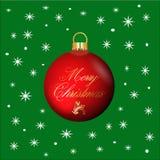Tarjeta de felicitación decorativa de la Feliz Navidad Imágenes de archivo libres de regalías