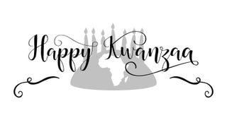 Tarjeta de felicitación decorativa feliz de Kwanzaa Imagen de archivo