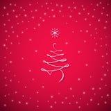 Tarjeta de felicitación del árbol de la Feliz Año Nuevo Foto de archivo libre de regalías