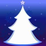 Tarjeta de felicitación del árbol de navidad Imagenes de archivo