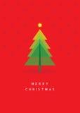 Tarjeta de felicitación del árbol de navidad Imágenes de archivo libres de regalías