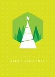 Tarjeta de felicitación del árbol de navidad Fotografía de archivo libre de regalías