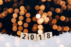tarjeta de felicitación del Año Nuevo 2018 Imagen de archivo