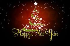 Tarjeta de felicitación del Año Nuevo Imagen de archivo libre de regalías