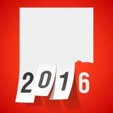 Tarjeta 2016 de felicitación del Año Nuevo Imágenes de archivo libres de regalías