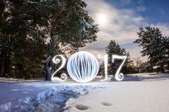 Tarjeta de felicitación del Año Nuevo Fotografía de archivo libre de regalías