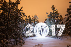 Tarjeta de felicitación del Año Nuevo Foto de archivo
