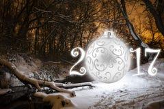Tarjeta de felicitación del Año Nuevo Imágenes de archivo libres de regalías