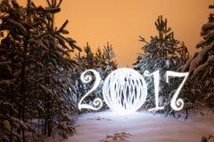 Tarjeta de felicitación del Año Nuevo Imagen de archivo