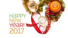 Tarjeta de felicitación del Año Nuevo Fotos de archivo libres de regalías