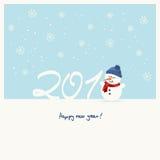 tarjeta de felicitación del Año Nuevo 2018 Fotos de archivo libres de regalías