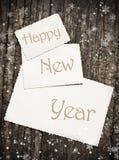Tarjeta de felicitación del Año Nuevo del vintage Fotos de archivo
