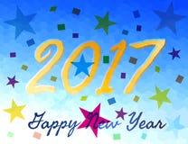 Tarjeta de felicitación del Año Nuevo para 2017 imágenes de archivo libres de regalías