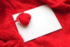 Tarjeta de felicitación del amor Imagen de archivo