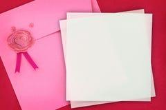 Tarjeta de felicitación del amor Fotografía de archivo libre de regalías