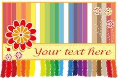 Tarjeta de felicitación del arco iris Fotos de archivo libres de regalías