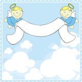 Tarjeta de felicitación del bautismo Imagen de archivo libre de regalías