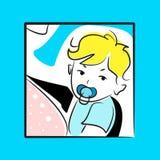 Tarjeta de felicitación del bebé Imagen de archivo