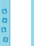 Tarjeta de felicitación del bebé – muchacho ilustración del vector