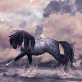 Tarjeta de felicitación del caballo de la fantasía/fondo Foto de archivo libre de regalías
