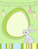 Tarjeta de felicitación del conejo de Pascua Fotografía de archivo